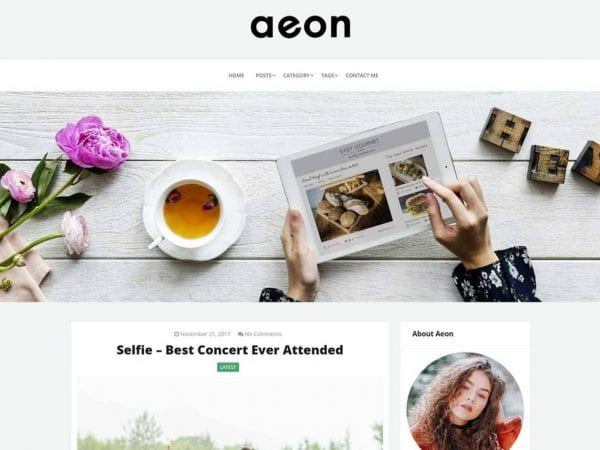 Free AeonBlog WordPress theme