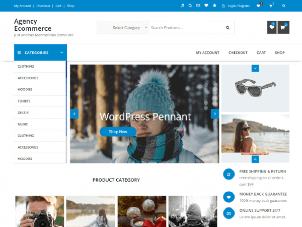 Free Agency Ecommerce WordPress theme