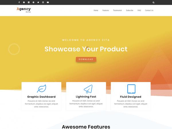 Free Agency Zita WordPress theme