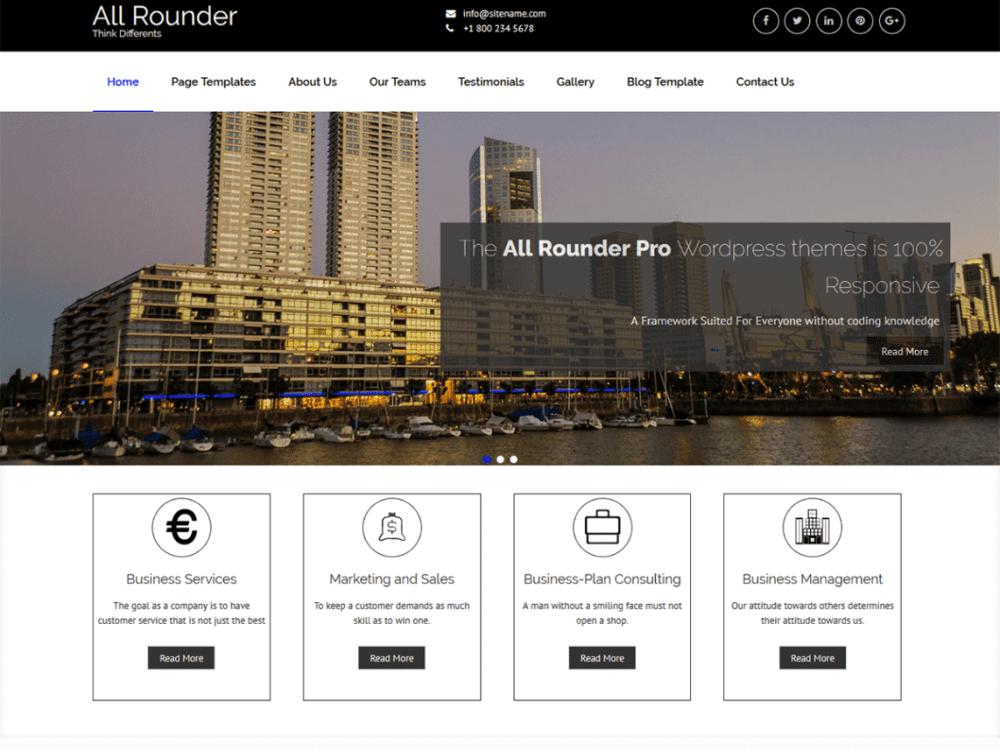 Free All rounder WordPress theme