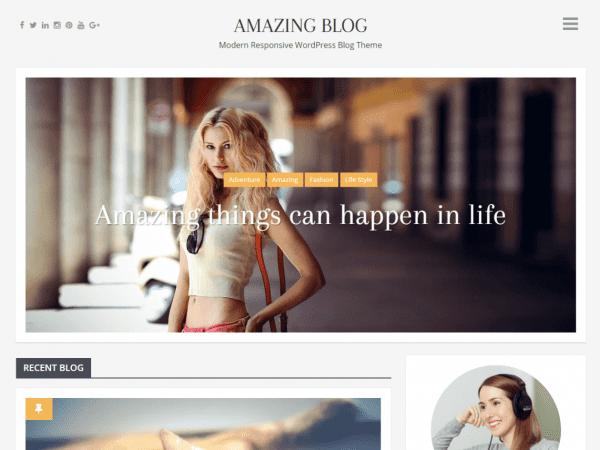 Free Amazing Blog WordPress theme