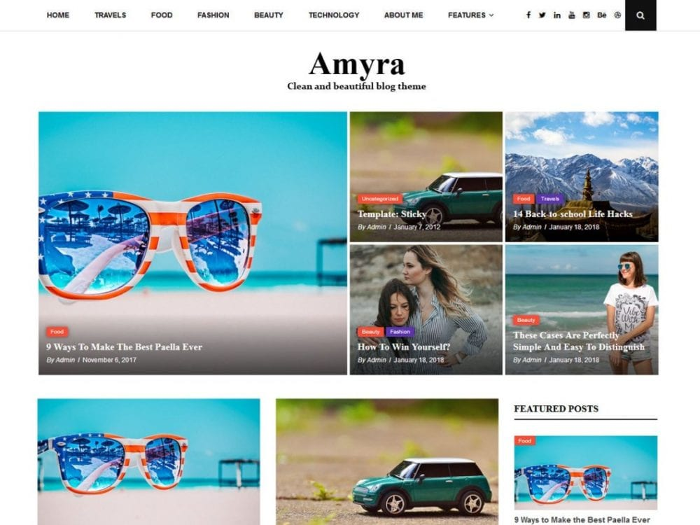 Free Amyra Lite WordPress theme