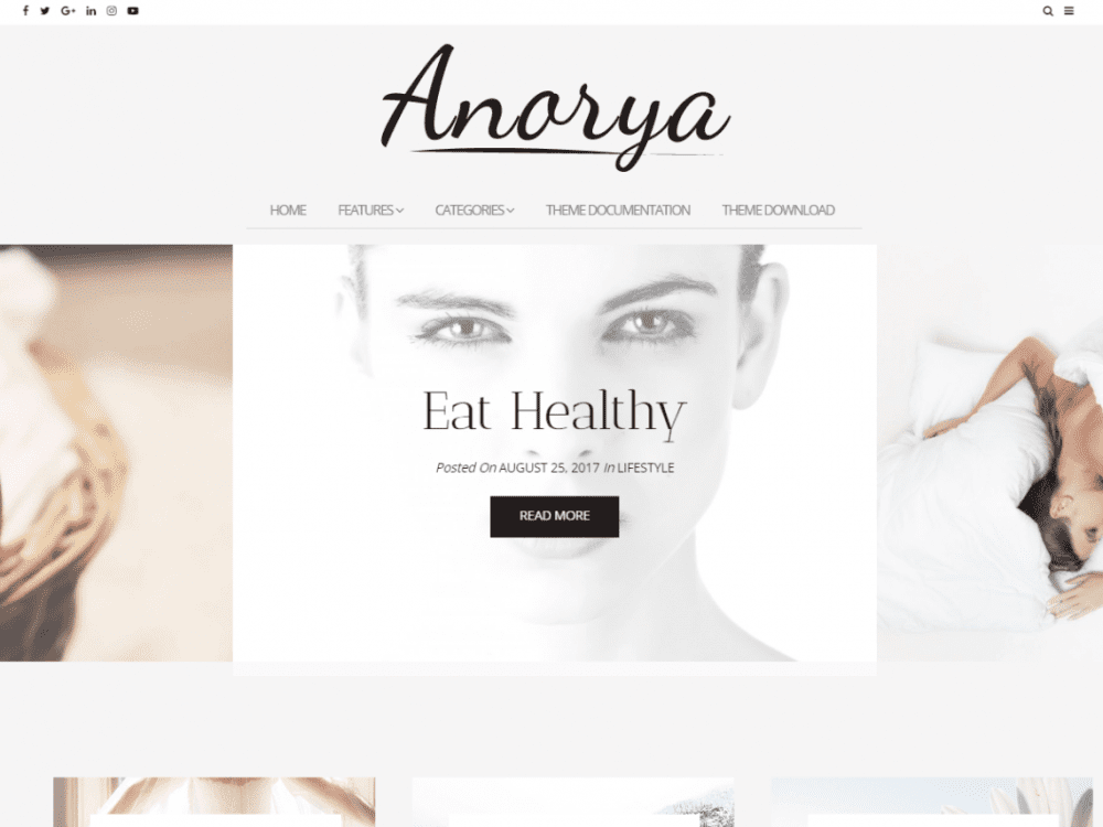 Free Anorya WordPress theme