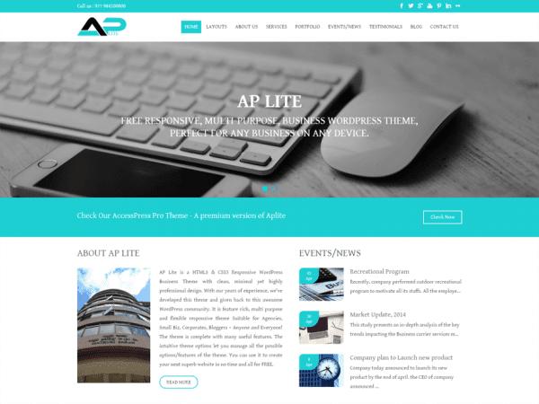 Free Aplite WordPress theme