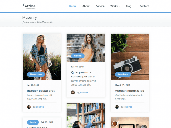 Free Arzine WordPress theme
