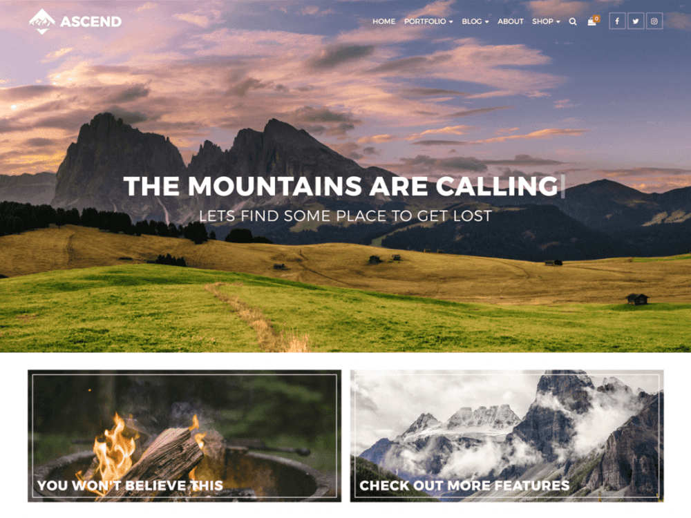 Free Ascend WordPress theme