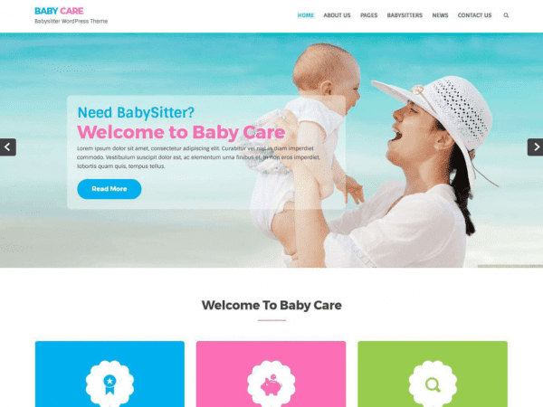 Free Babycare WordPress theme