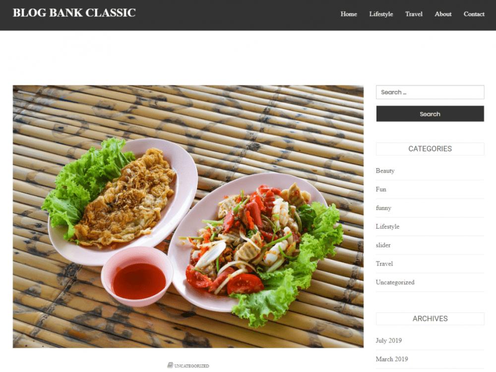 Free Blog Bank Classic WordPress theme