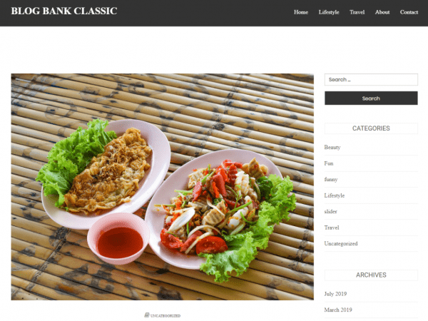 Free Blog Bank Classic WordPress theme