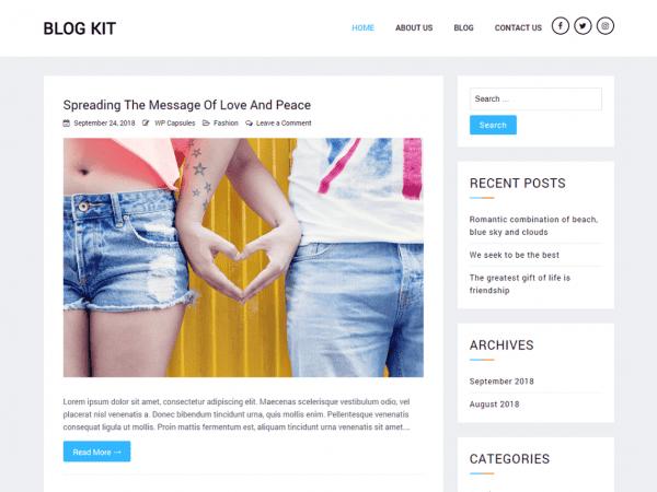 Free Blog Kit WordPress theme
