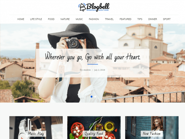 Free BlogBell WordPress theme