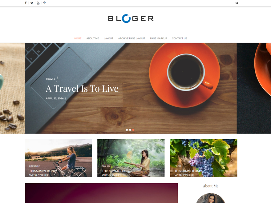 Free Bloger WordPress theme