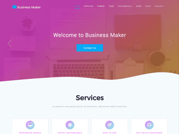 Free Business Maker WordPress theme