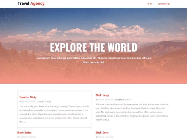 Free CGS Travel Agency WordPress theme