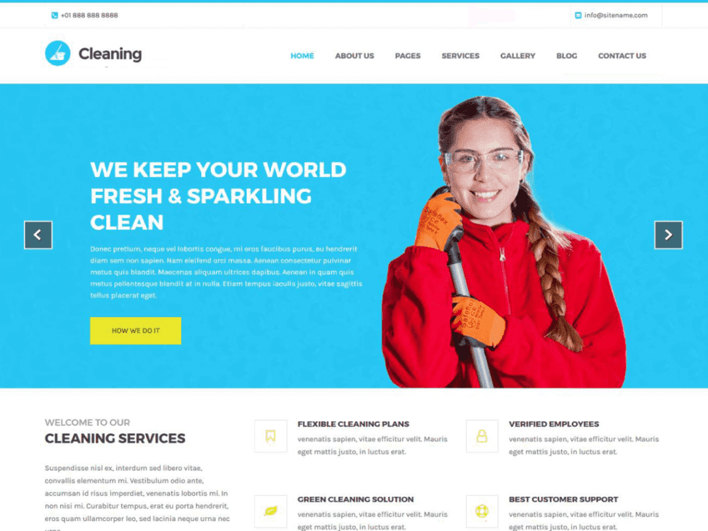 Free Cleaning Lite WordPress theme