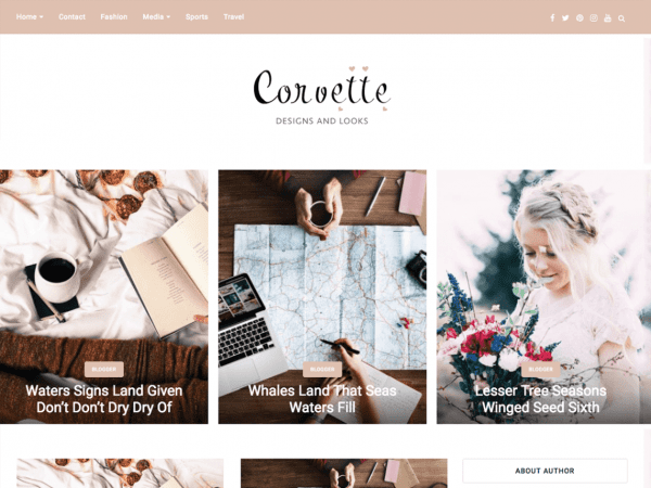 Free Corvette WordPress theme