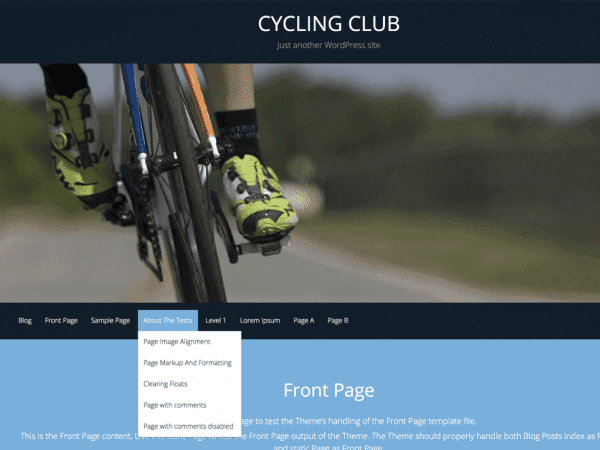 Free CyclingClub WordPress theme