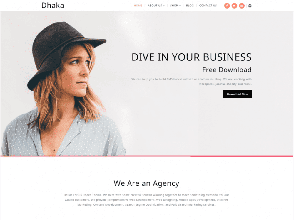 Free Dhaka WordPress theme