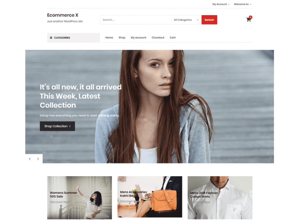 Free Ecommerce X WordPress theme