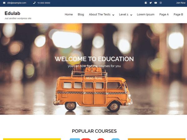 Free Edulab WordPress theme