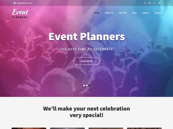 Free Event Planners WordPress theme