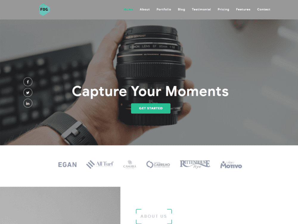 Free Fog Lite WordPress theme