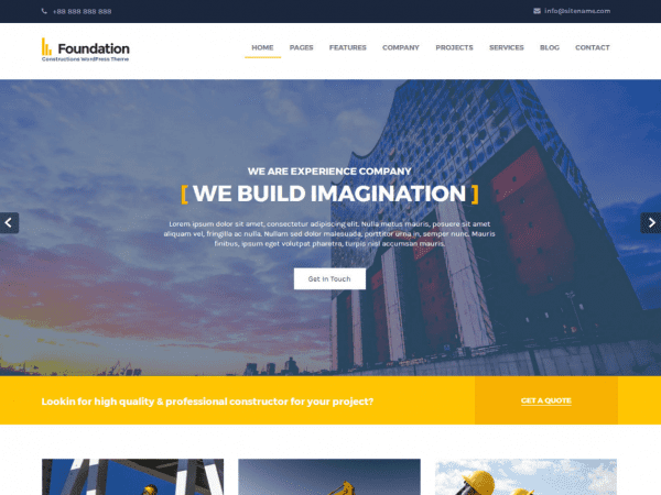 Free Foundations WordPress theme