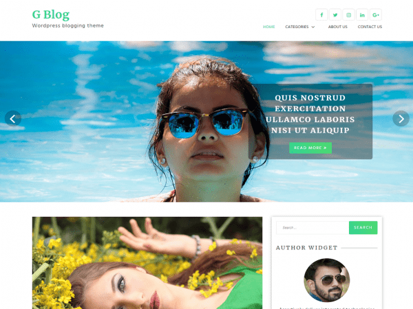 Free G Blog WordPress theme