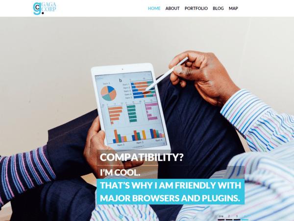 Free Gaga Corp WordPress theme