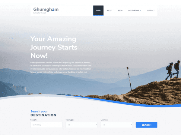 Free Ghumgham WordPress theme