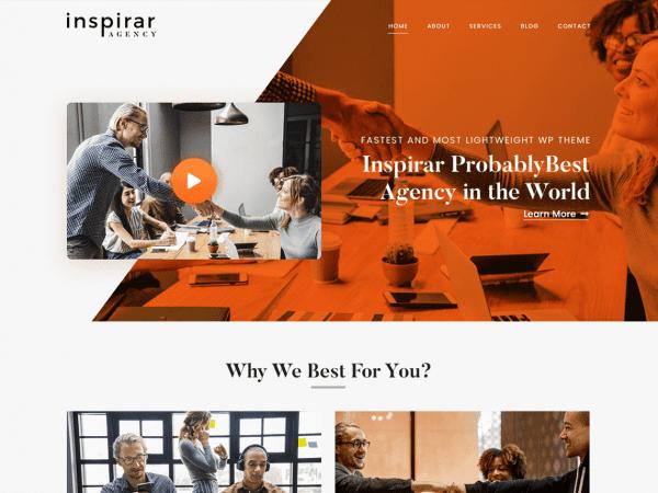 Free Inspirar WordPress theme