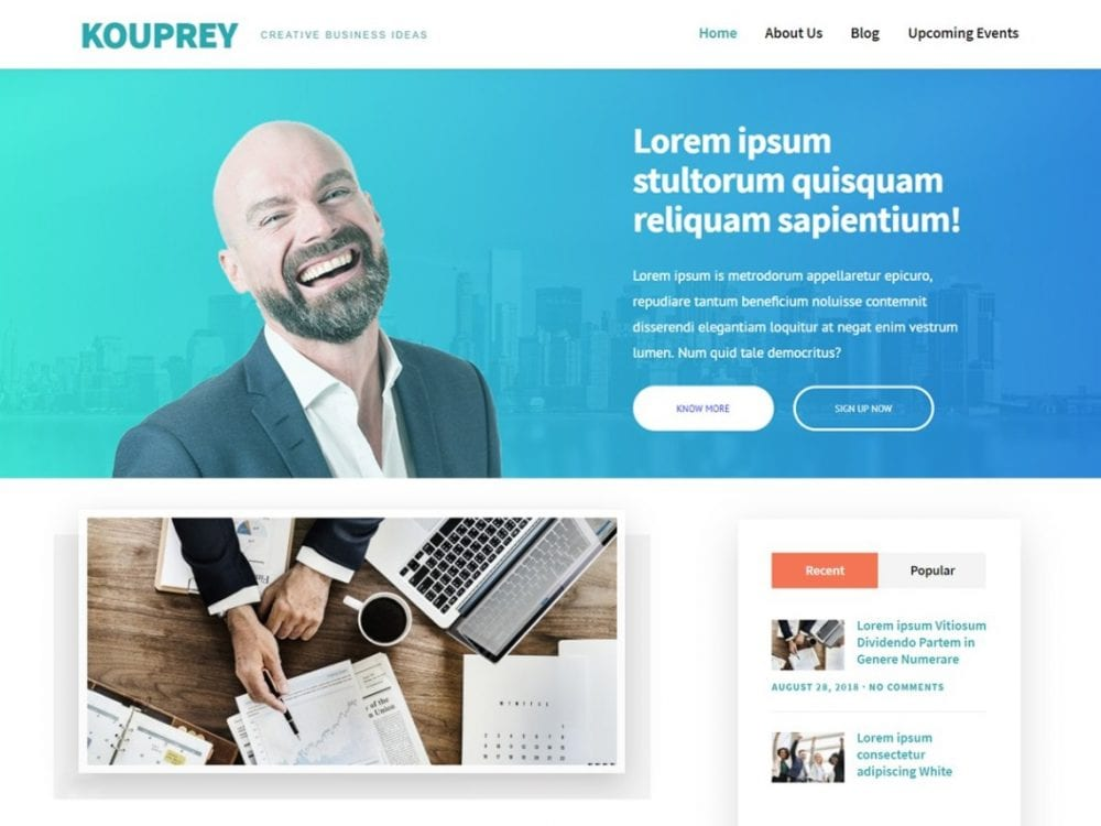 Free Kouprey WordPress theme