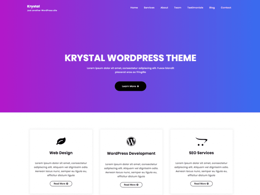 Free Krystal WordPress theme