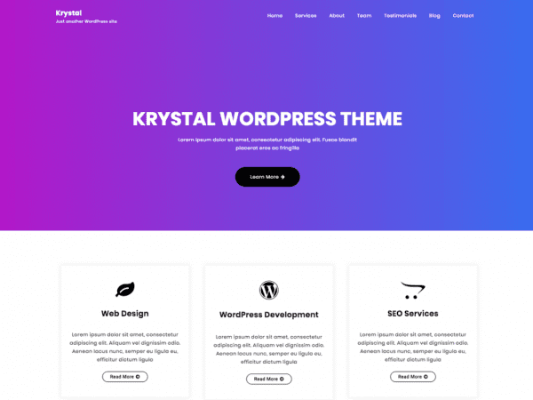 Free Krystal WordPress theme