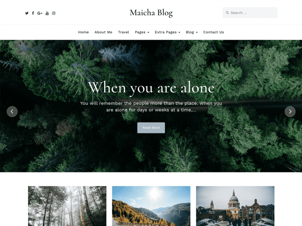 Free Maicha Blog WordPress theme