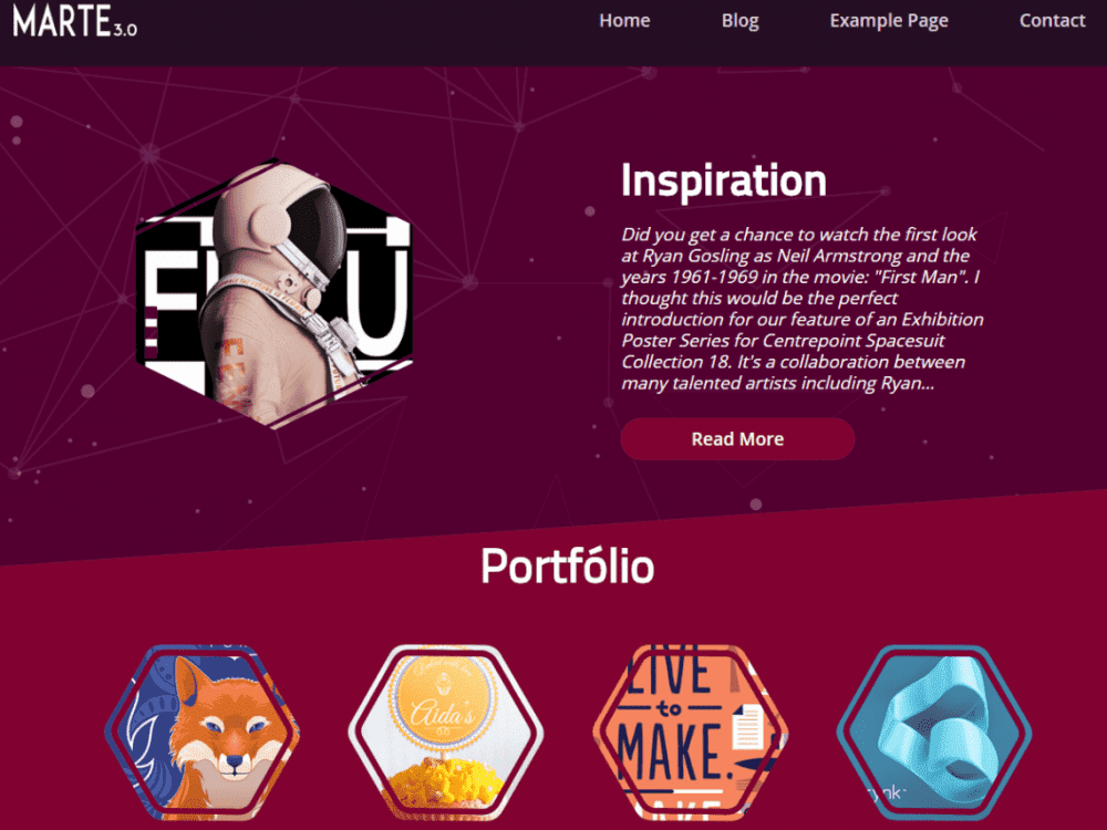 Free Marte WordPress theme