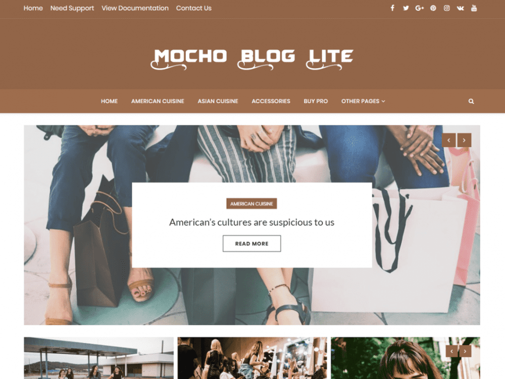 Free Mocho Lite WordPress theme