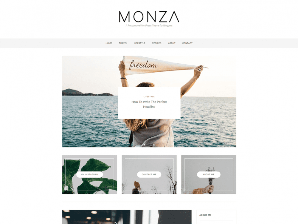 Free Monza WordPress theme