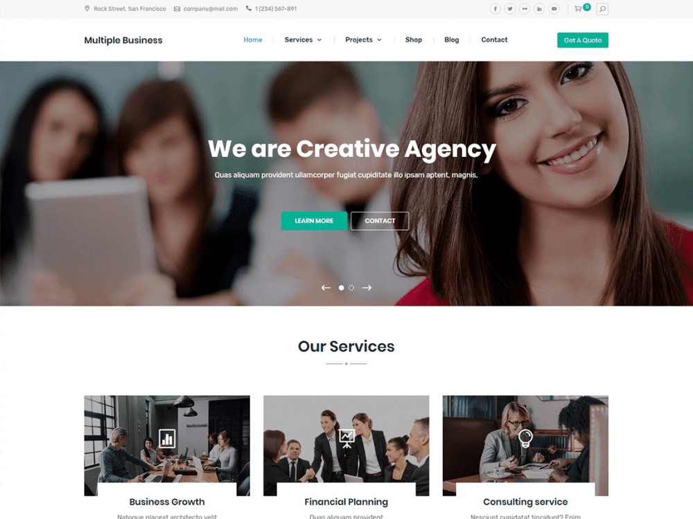 Free Multiple Business WordPress theme