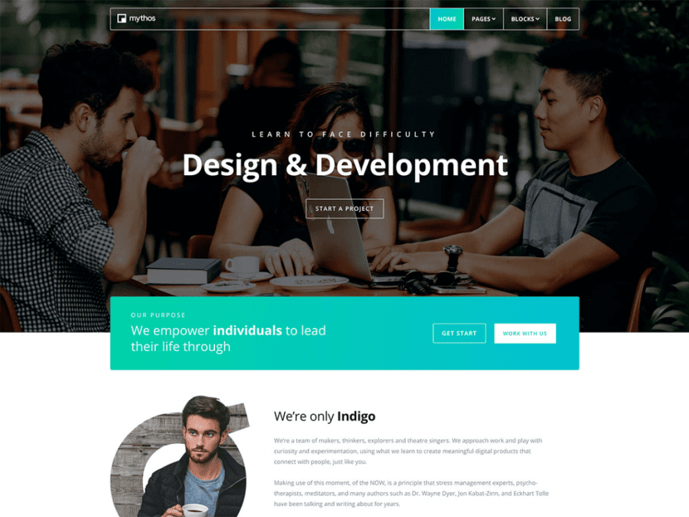Free Mythos WordPress theme