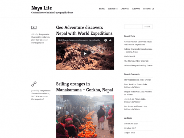 Free Naya Lite WordPress theme