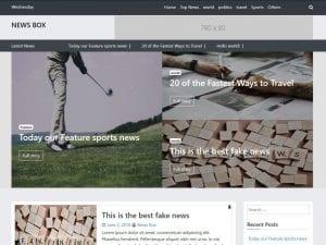 Free News Box WordPress theme