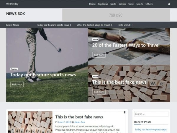 Free News Box WordPress theme