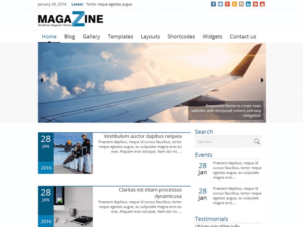 Free News Magazine WordPress theme