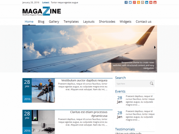 Free News Magazine WordPress theme