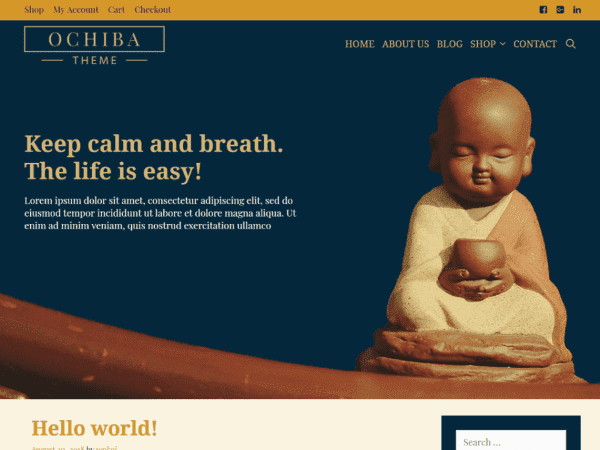 Free Ochiba WordPress theme