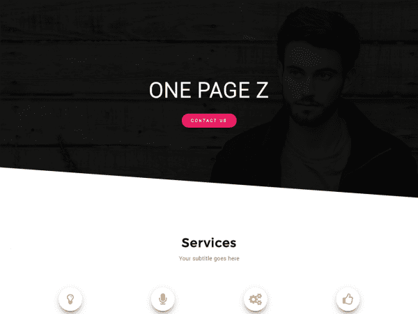 Free One Page Z WordPress theme