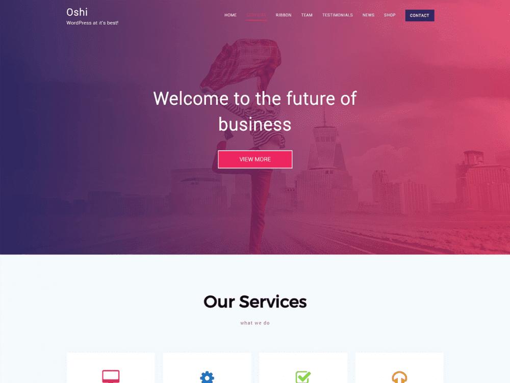 Free Oshi WordPress theme