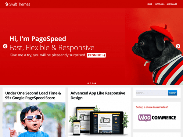 Free Page Speed WordPress theme