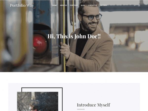 Free Portfolio Way WordPress theme